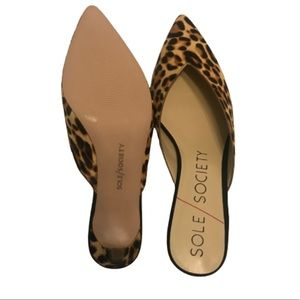 Sole Society Shoes - Sole Society Maleah Leopard  Mule Pump